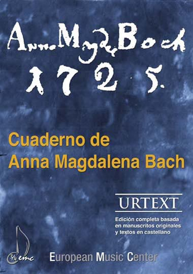 Cuaderno de Anna Magdalena Bach Piano European Music Center
